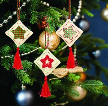 Anchor Cross St sampler - Festive Star Decoration Traditional