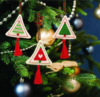 Anchor Cross Stitch Kit - Festive Tree Decoration Traditional