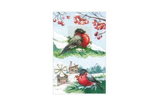 ANDRIANA - Grußkarte BULLFINCHES