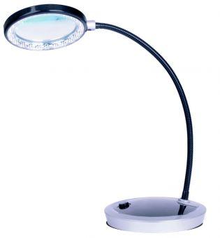 LED Tisch - Lupenlampe dimmbar - Netz- + Batteriebetrieb!