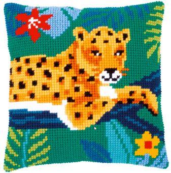 Vervaco Kreuzstichkissen - Leopard