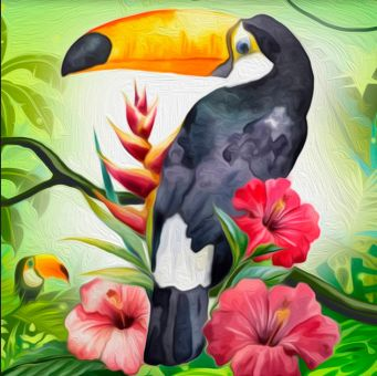 Diamond Painting Artibalta - Exotic Toucan