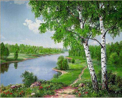 Diamond Painting Artibalta - River and the Birch