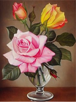 Diamond Painting Artibalta - Roses in the Cup
