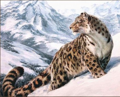Diamond Painting Artibalta - Snow Leopard