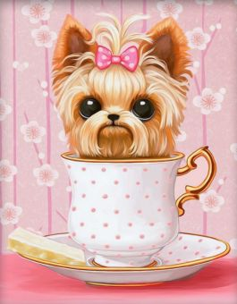 Diamond Painting Artibalta - Dog in the Cup
