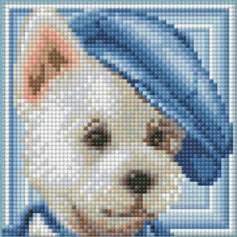 Diamond Painting Artibalta - DOG WITH HAT