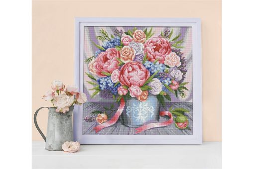 Diamond Painting Artibalta - PINK FLOWERS