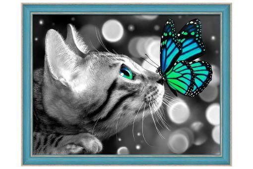 Diamond Painting Artibalta - BENGAL CAT AND BUTTERFLY