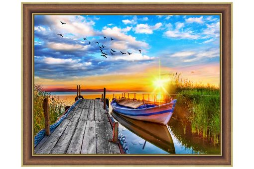 Diamond Painting Artibalta - SUNSET AT THE QUAY