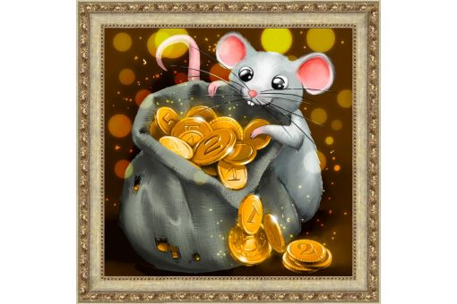 Diamond Painting Artibalta - MOUSE AND TREASURE