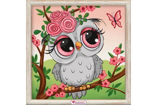 Diamond Painting Artibalta - OWL IN FLOWERS