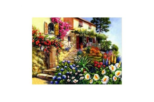 Diamond Painting Artibalta - HOUSE WITH FLOWERS