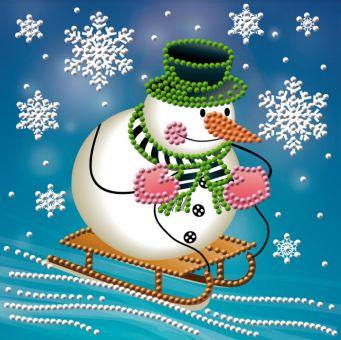 Diamond Painting Artibalta - Snowman with the sleigh
