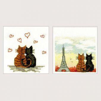 Le Bonheur des Dames - 2 CARTES CHATS PARISIENS