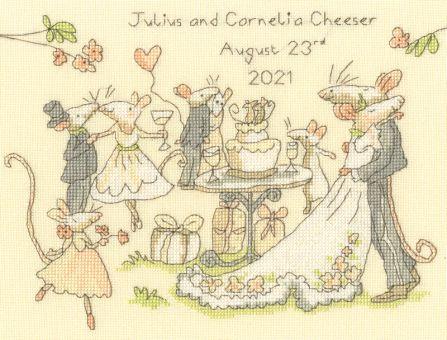 Bothy Threads - ANITA JERAM - MICE DAY FOR A WHITE WEDDING