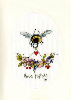 Bothy Threads - GRUßKARTE ELEANOR TEASDALE - BEE HAPPY