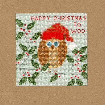 Bothy Threads - Christmas Card – Xmas Owl