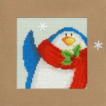 Bothy Threads - Christmas Card – Snowy Penguin
