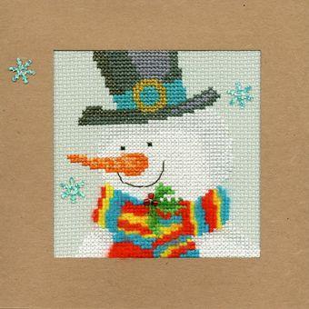 Bothy Threads - Christmas Card – Snowy Man