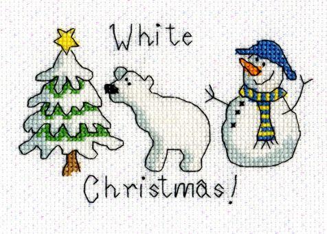 Cross Stitch Corner   Bothy Threads - White Christmas Grußkarte