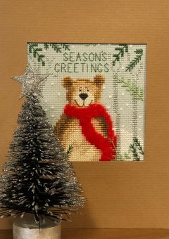 Bothy Threads - Christmas Card – Xmas Bear