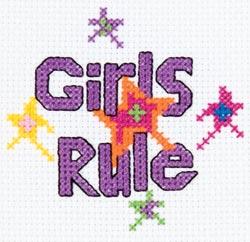 Bucilla - My 1st Stitch Girls Rule Mini