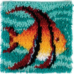 Caron Latch Hook Kit - Angel Fish