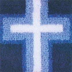 Caron Latch Hook Kit - Cross Of Light