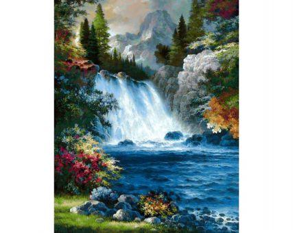 Diamond Embroidery/ Diamond Painting - Waterfall