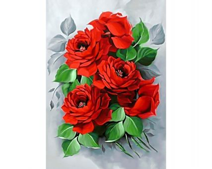 Diamond Embroidery/ Diamond Painting - Elegant roses
