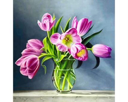 Diamond Embroidery/ Diamond Painting - Spring tulips