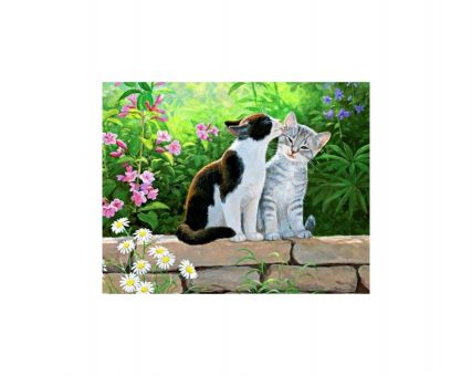 Diamond Embroidery/ Diamond Painting - Cat morning