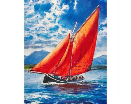 Diamond Embroidery/ Diamond Painting - Red Sails