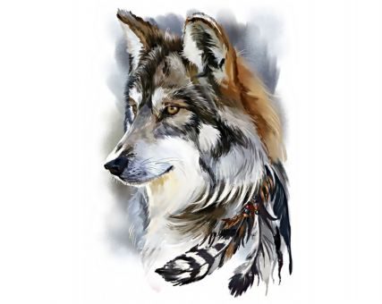 Diamond Embroidery/ Diamond Painting - Wolf spirit