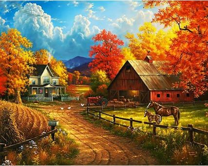 Super SALE Diamond Embroidery/ Diamond Painting - Way to autumn