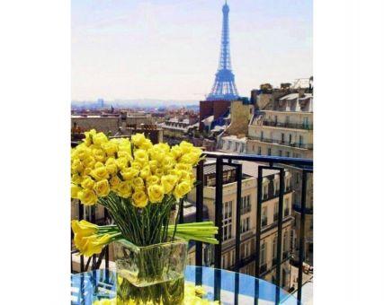 Super SALE Diamond Embroidery/ Diamond Painting - Paris. Yellow roses