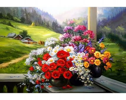Diamond Embroidery/ Diamond Painting - Alpine bouquet