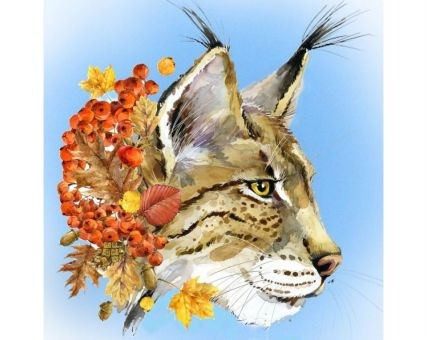 Diamond Embroidery/ Diamond Painting - Lynx