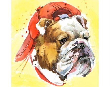 Diamond Embroidery/ Diamond Painting - ? Supercool bulldog