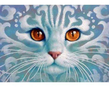 Diamond Embroidery/ Diamond Painting - Ghostlike cat