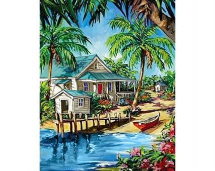 Diamond Embroidery/ Diamond Painting - Caribbean oasis