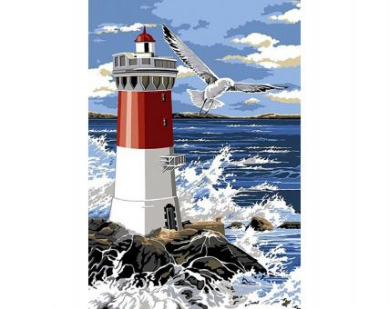 Diamond Embroidery/ Diamond Painting - Lighthouse and waves