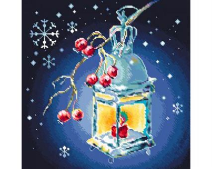 Diamond Embroidery/ Diamond Painting - Christmas lantern