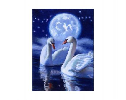 Diamond Embroidery/ Diamond Painting - Mystic swans