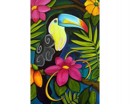 Diamond Embroidery/ Diamond Painting - Tropical toucan