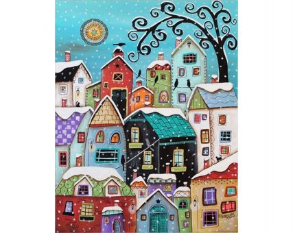 Diamond Embroidery/ Diamond Painting - Snow falling
