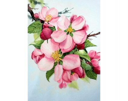 Diamond Embroidery/ Diamond Painting - Apple blossom