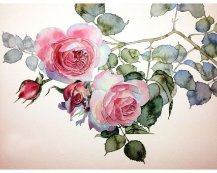 Diamond Embroidery/ Diamond Painting - Rose twig
