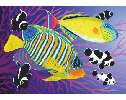 Diamond Embroidery/ Diamond Painting - Colourful fishies